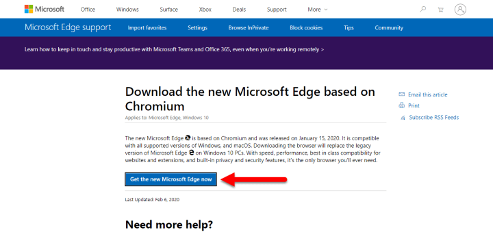 Get the Microsoft Edge Now