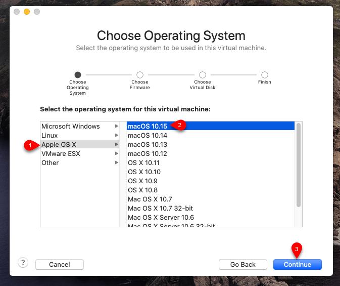 Select Apple Mac OS X