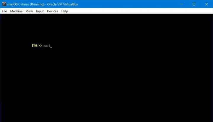 How to Fix EFI Internal Shell on macOS Catalina on VirtualBox