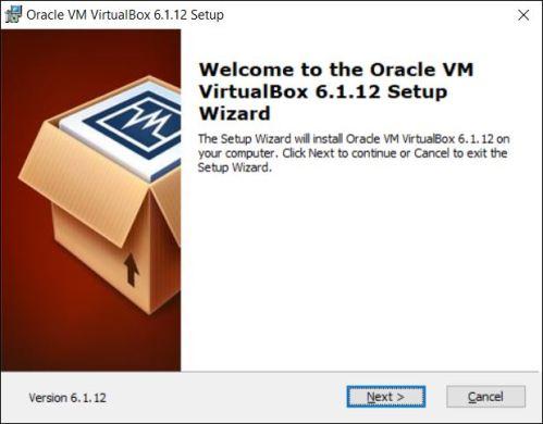 VirtualBox wizard