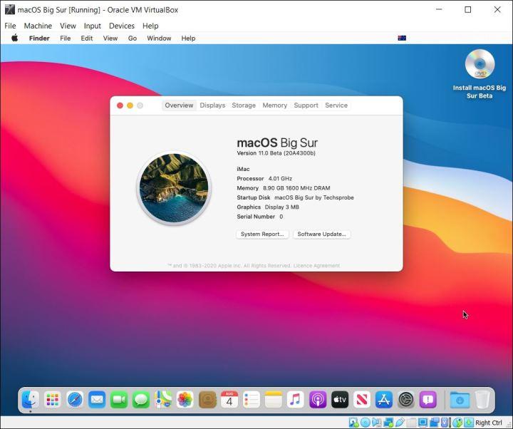 Install macOS Big Sur on VirtualBox on Windows PC