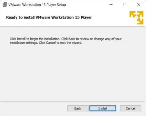 Install VMware Wizard