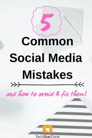 common social media mistakes avoid fix twitter Facebook Instagram pinterest