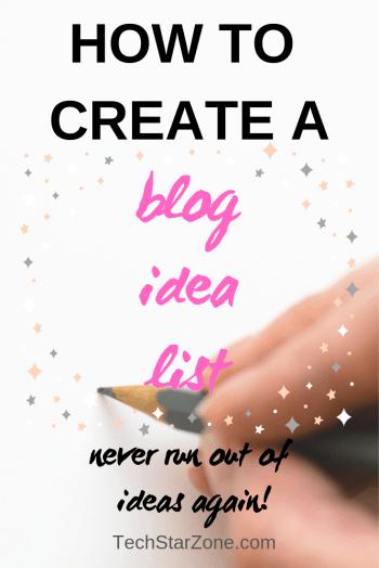 create blog idea list blog writing writer's block blogging