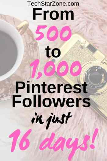 500 to 1000 Pinterest followers social media strategy