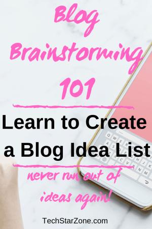blog idea list brainstorming