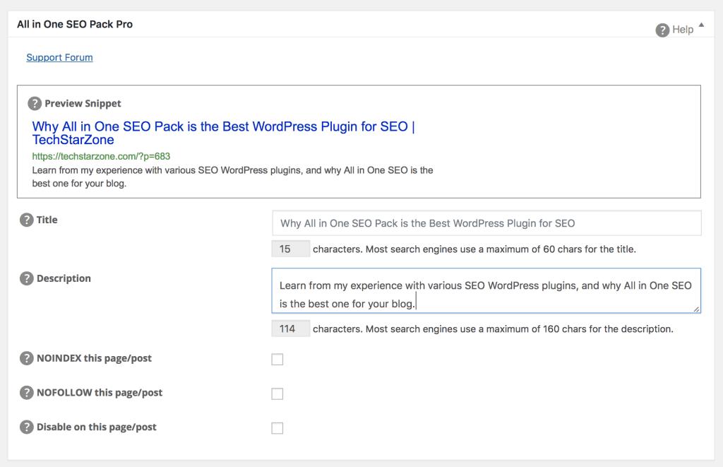 all in one seo blog post best WordPress plugin