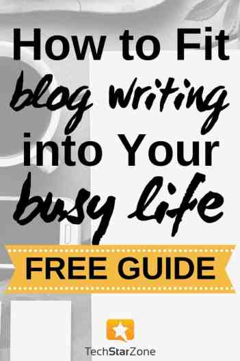 blog writing busy schedule productivity