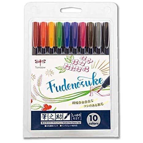 Tombow Fudenosuke Colors Set 10-Pack