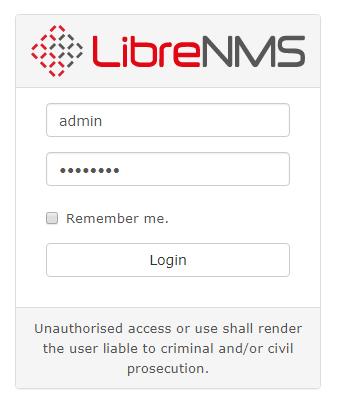 pre-built librenms oxidized rsyslog