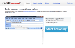 mail to web page
