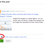 Facebook and Twitter share on Google Plus