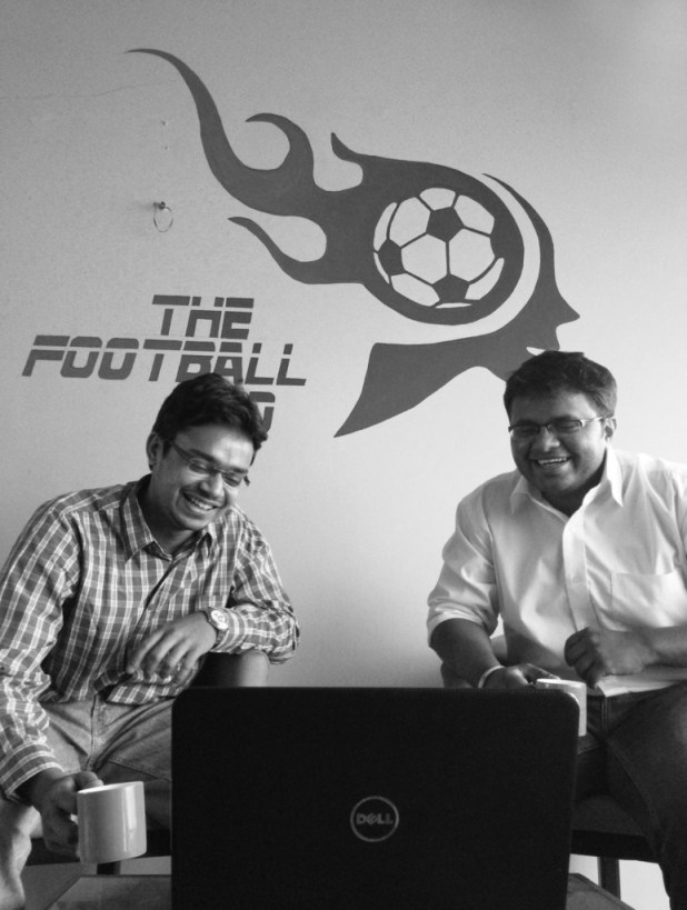 Pranesh K, CEO & Rohit N, COO of The Football Mind (From Left to Right)
