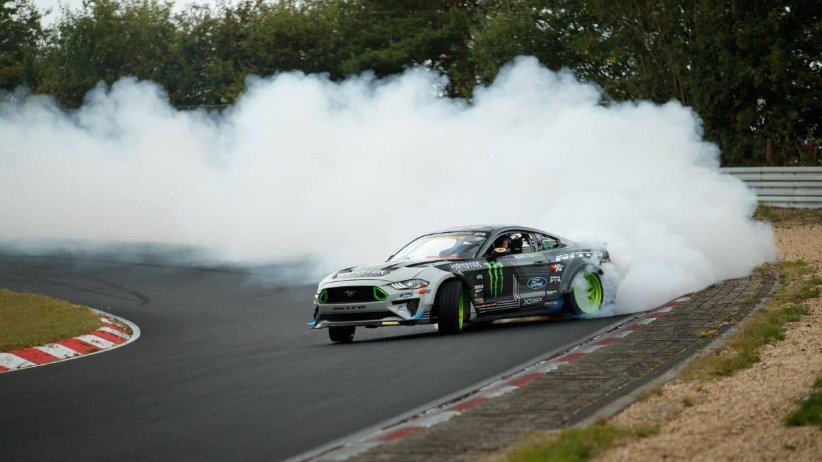 Ford Mustang RTR drifting lap Nurburgring