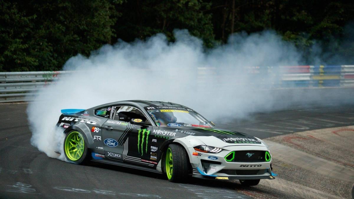 Mustang RTR Nurburgring drift lap