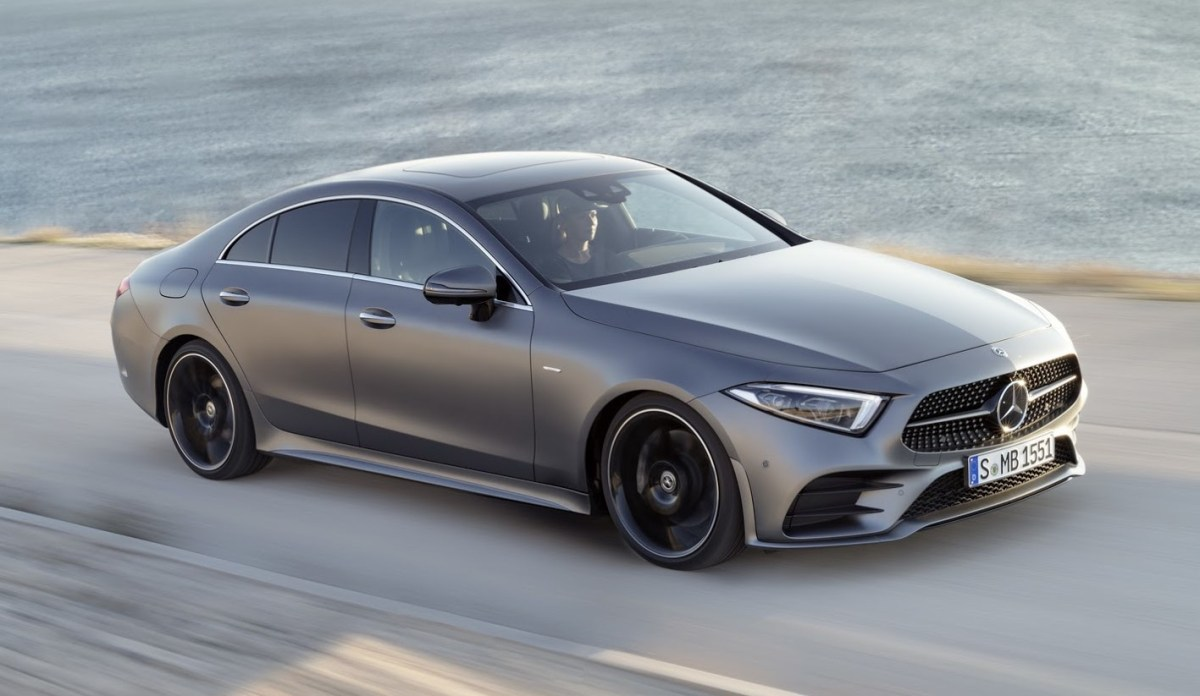 2018 Mercedes-Benz CLS on road india
