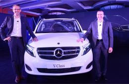 Mercedes-Benz V Class India on road