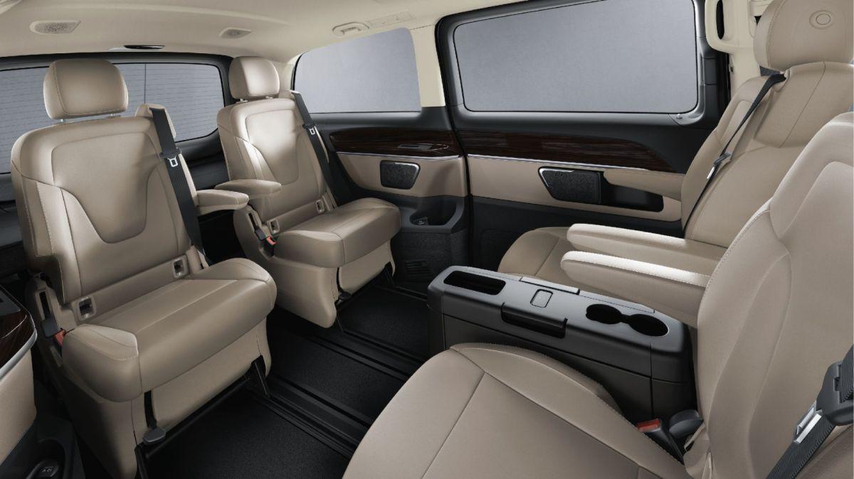 Mercedes V Class rear seat luxury