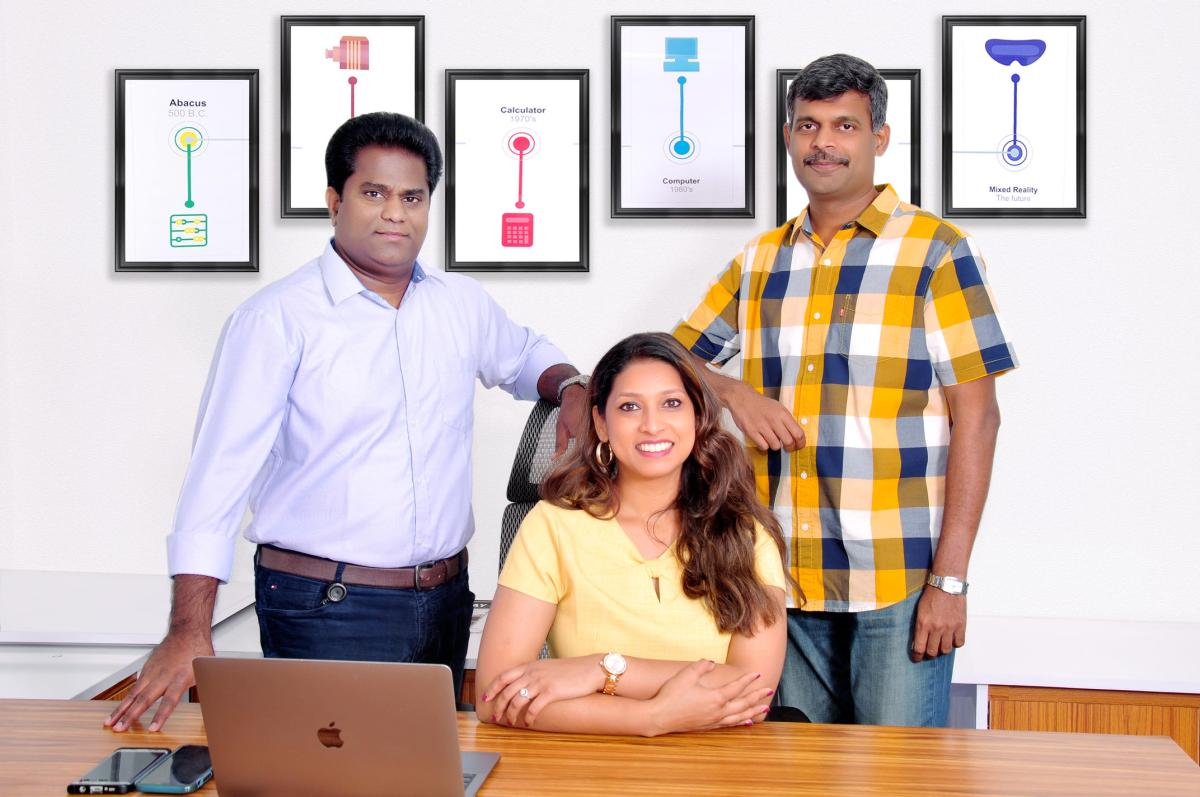 Founders (L-R) Subbarao, Charu and Ilangovel
