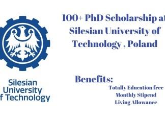 PhD Scholarship at Silesian University of Technology