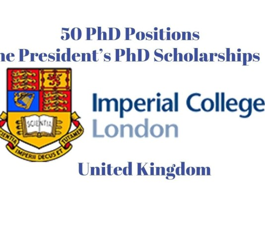 50 PhD Positions at Imperial College London