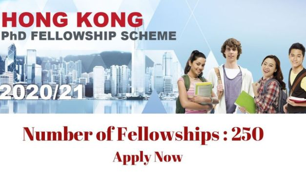 Hong Kong PhD Fellowship Scheme Program 2021-22