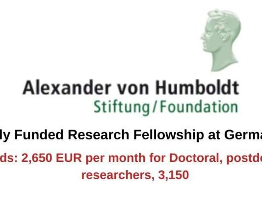 500 HUMBOLDT RESEARCH FELLOWSHIPS