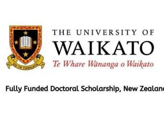 University of Waikato PhD Scholarship