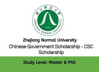 Zhejiang Normal University Chinese Government Scholarship