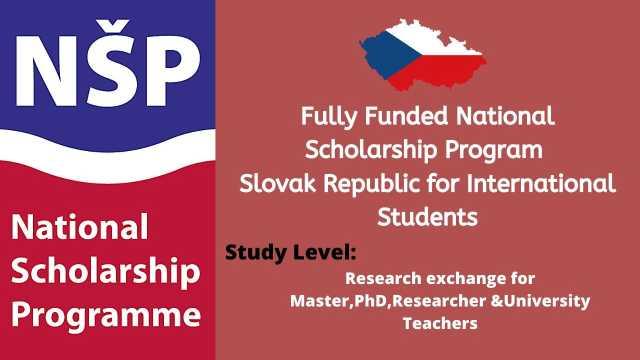National Scholarship Program of the Slovak Republic For International Students