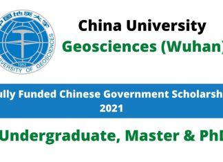 China University of Geosciences Wuhan CSC Scholarship