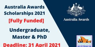 Fully Funded Australia Awards Scholarships