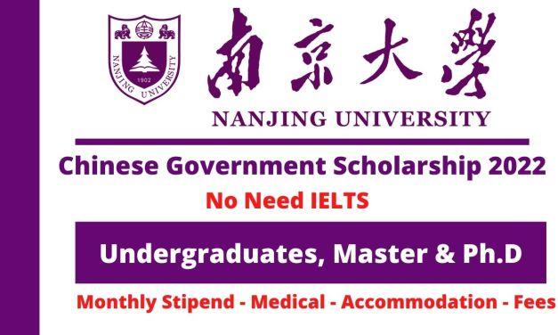 Nanjing University CSC Scholarship 2022 China   Study in China