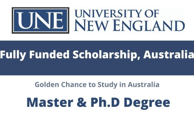 University of New England Scholarship Australia 2021 | Fully Funded