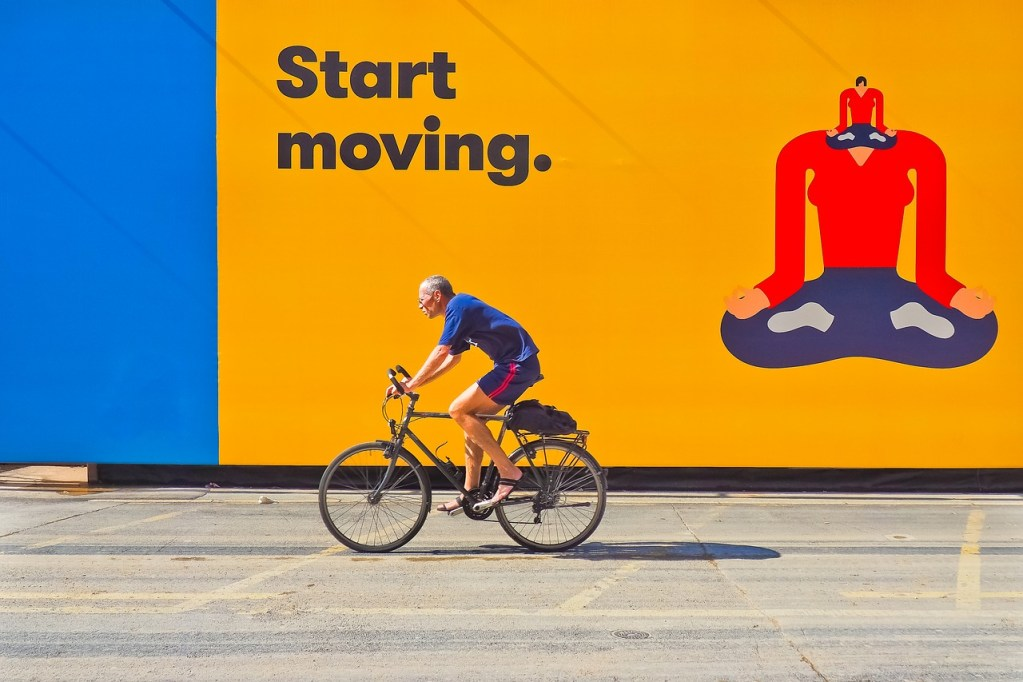 cyclists, movement, cycling