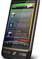 HTC Desire Android smartphone touchscreen mobile phone