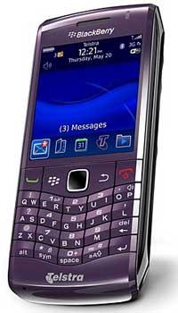 BlackBerry Pearl 3G smartphone, royal purple