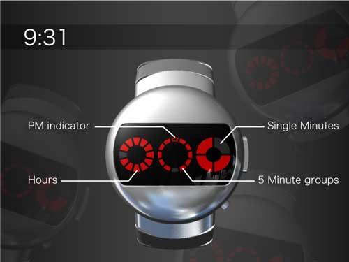 Tokyoflash Robot watch, design concept