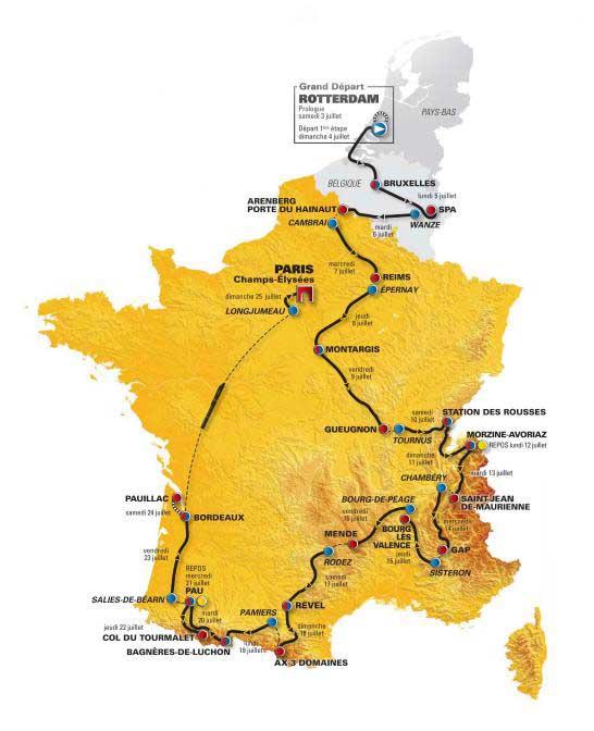 Tour de France 2010 route
