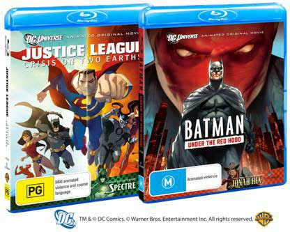 Justice League: Crisis on Two Earths & Batman: Under The Red Hood on Blu-ray