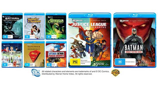 Win DC Comics movies on Blu-ray
