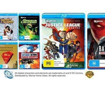 Win DC Comics movies on Blu-ray