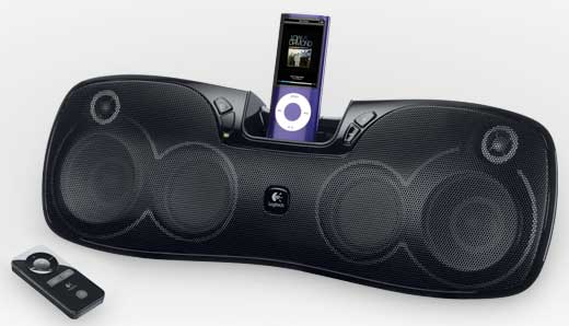 Logitech Rechargeable Speaker S715i, Logitech S715i iPod dock