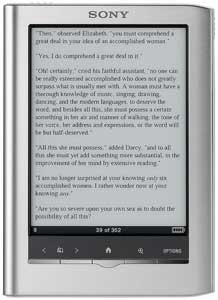 Sony Reader Pocket Edition, Sony e-book reader, Sony electronic book
