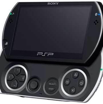 Sony PSPgo, angle view