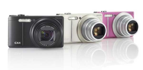 Ricoh Cx4 digital camera colour range