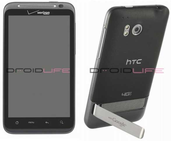 HTC Thunderbolt smartphone, front and back view