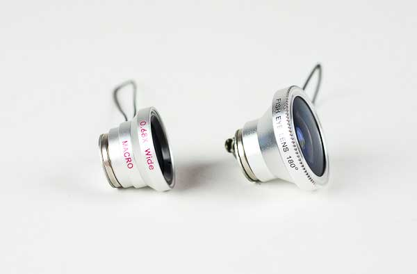 Photojojo fisheye, macro/wide angle camera phone lenses