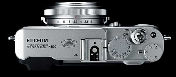 Fujifilm FinePix X100 top view