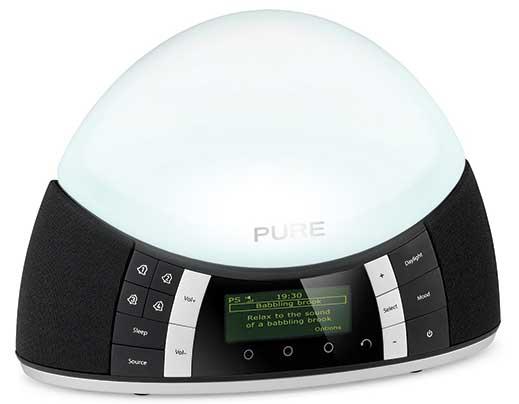 Pure Twilight digital radio, white light colour